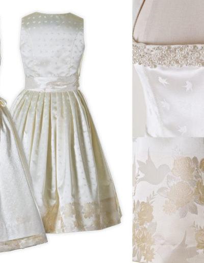 Brautdirndl mit Bordüre